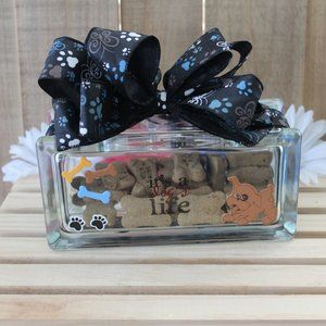Other - NEW Dog Treat Holder Home Pet Decor Handcrafted
